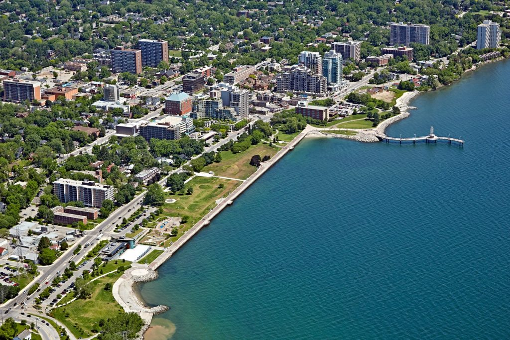 Burlington, Ontario aerial shot