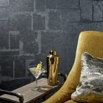 Illustrative Photo - Blue Concrete Organic Texture Commercial Wallcovering